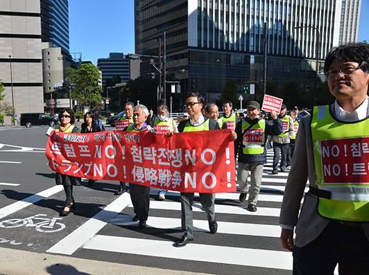 韓国人 デモ トランプ大統領 北朝鮮に関連した画像-03