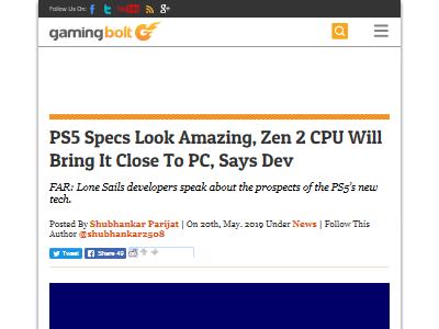 PS5 スペック 開発者 CPUに関連した画像-02
