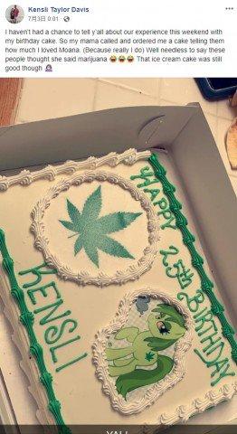 誕生日 ケーキ モアナ マリファナに関連した画像-03