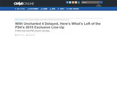 アンチャーテッド PS4に関連した画像-02