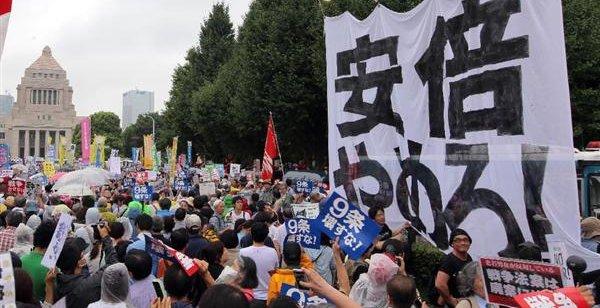 国会前 デモ 暴徒 左翼 森友 加計 公文書改ざんに関連した画像-01