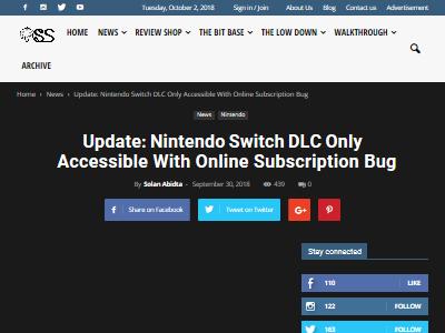任天堂 ニンテンドースイッチ スイッチオンライン DLC バグに関連した画像-02