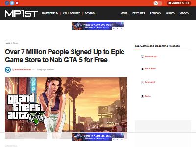 エピックゲームズ ストア GTA5 無料配布 新規アカウント 700万人に関連した画像-02