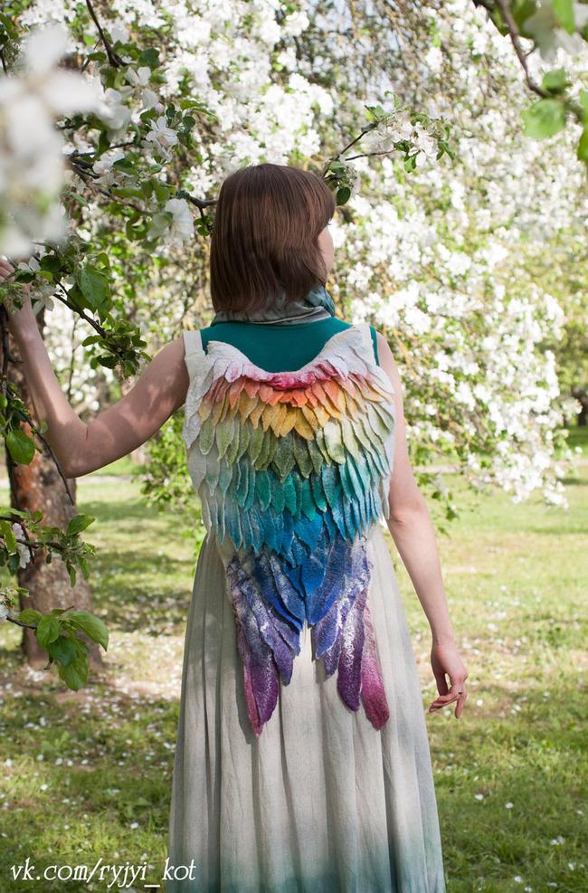 羽 バックパック 鳥の羽 リュックサック 鞄に関連した画像-06