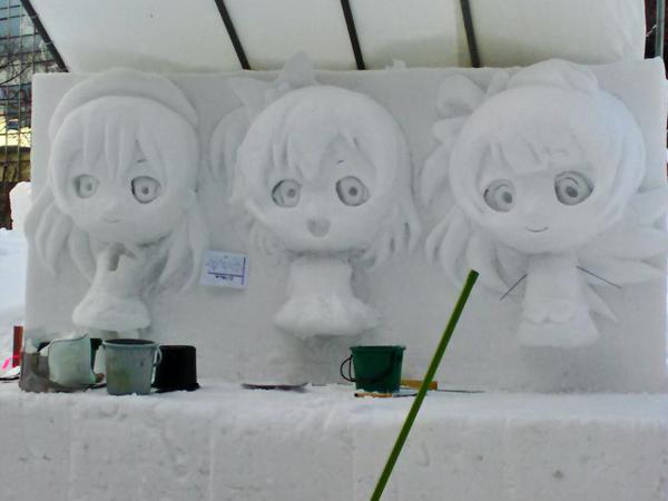 ラブライブ 雪像 札幌雪まつりに関連した画像-02