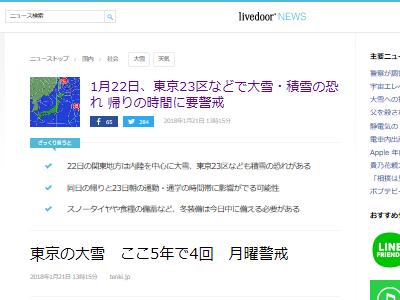 東京 天気 1月22日 大雪 雪に関連した画像-02