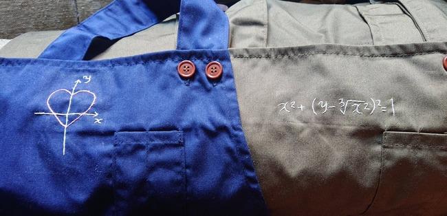 妻 謎 数式 刺繍 エプロン 恋の方程式 愛の方程式に関連した画像-06
