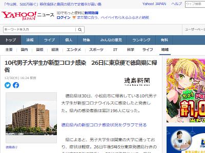 帰省 年末年始 東京 徳島県 新型コロナウイルス 感染 陽性に関連した画像-02