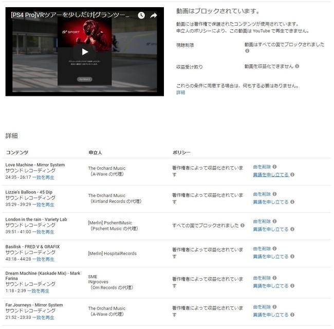 グランツーリスモ グランツーリスモSPORT GT クソゲー 配信 動画 削除 著作権 侵害 楽曲に関連した画像-03