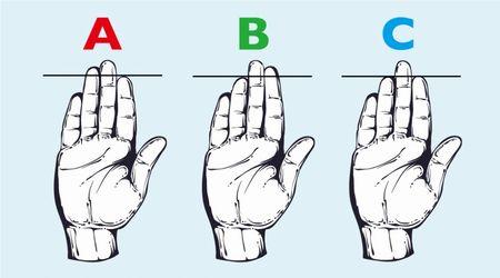 指の長さで分かるに関連した画像-01