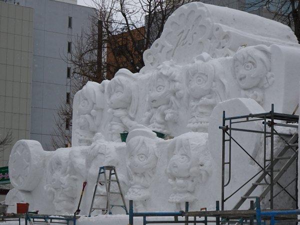 進撃の巨人 さっぽろ雪まつり 巨大雪像 ラブライブ! 札幌雪まつりに関連した画像-06