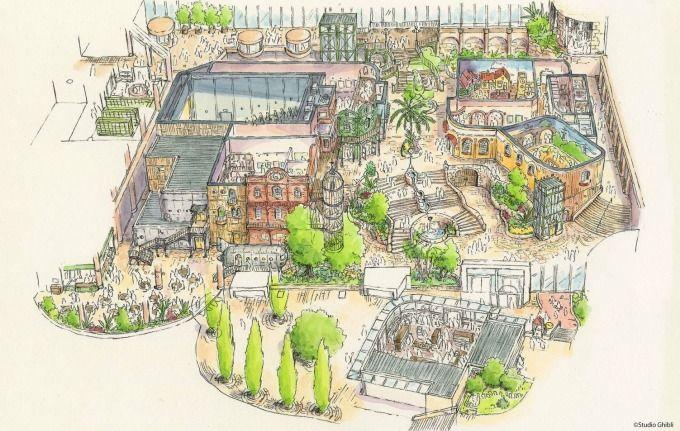 ジブリパーク 愛知 開業 ハウルの城 タタラ場に関連した画像-03