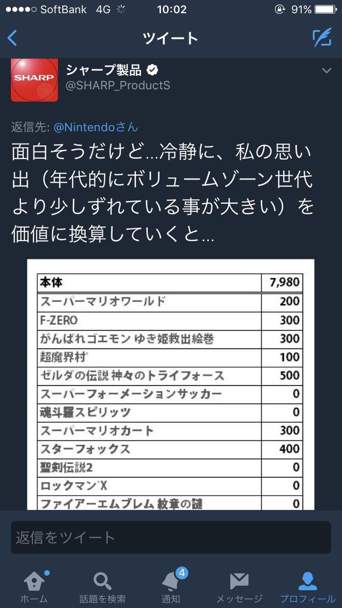 シャープ  製品 任天堂 リプライ ミニスーパーファミコン 無価値 喧嘩 炎上に関連した画像-02