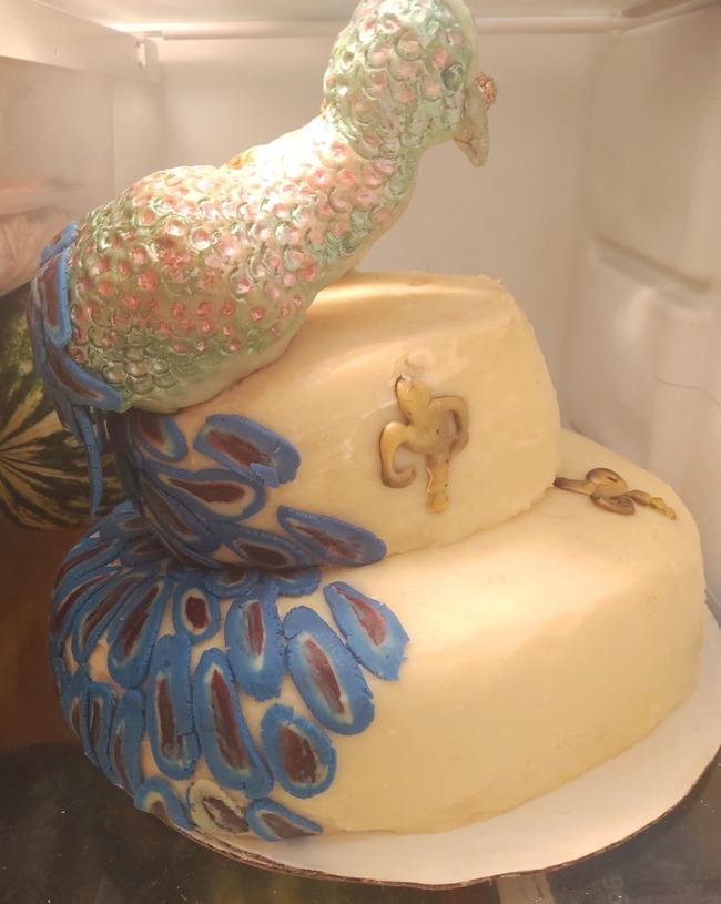 孔雀 ウェディングケーキ に関連した画像-04