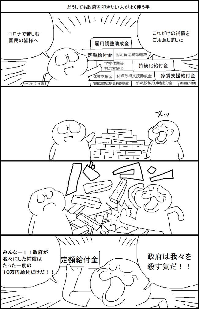 給付金 政府 政策 ネトウヨ 補償 新型コロナウイルスに関連した画像-02