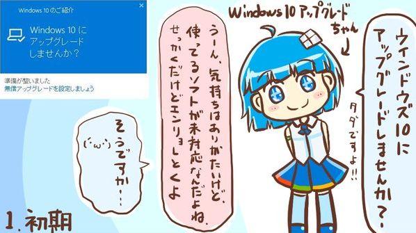 windows10 アップグレード 擬人化に関連した画像-01
