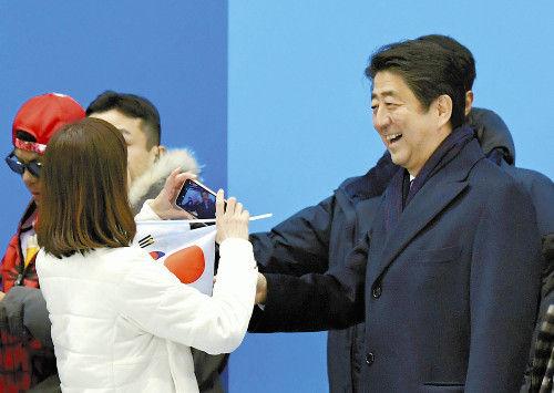 平昌五輪 安倍首相 大人気に関連した画像-01