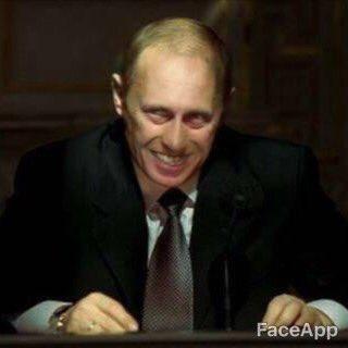 顔写真 絵 強制的 笑顔 アプリ FaceApp プーチン大統領 スネイプ リヴァイ兵長 スネークに関連した画像-08