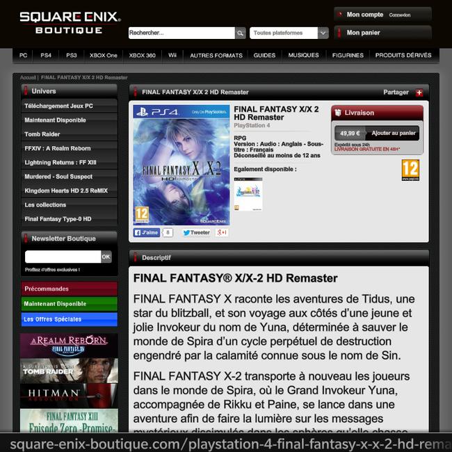 FF10リマスター PS4に関連した画像-03