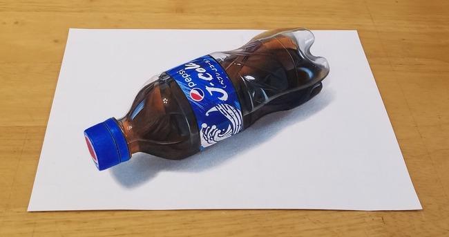 高校生 ペプシコーラ 絵 色鉛筆 描く に関連した画像-02