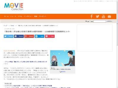 聲の形 興行収入 10億円に関連した画像-02