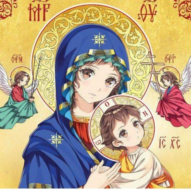 ロシア キリスト教 イコン 宗教画 アニメ調 論争に関連した画像-04