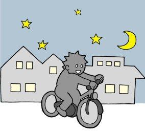 無灯自転車がどれだけ危ないかを描いた4コマ漫画のインパクトがヤバイwww