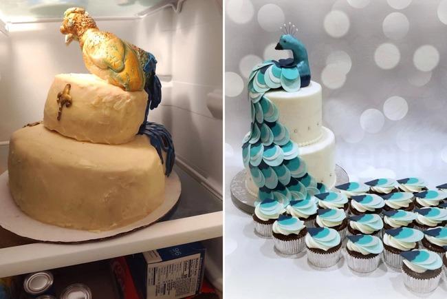 孔雀 ウェディングケーキ に関連した画像-03
