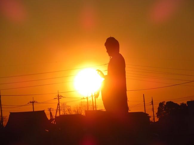 牛久大仏 波 かめはめ波 波動拳 太陽 写真に関連した画像-02