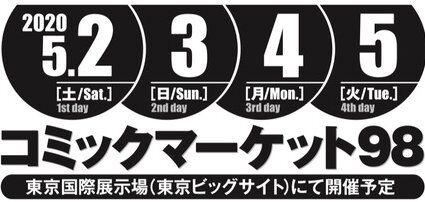 コミケ コミックマーケット 春コミ C98 開催 当落発表に関連した画像-01