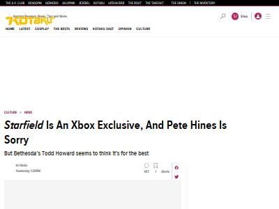 ベセスダ 幹部 スターフィールド Starfield Xbox 独占 PSユーザー 謝罪に関連した画像-02