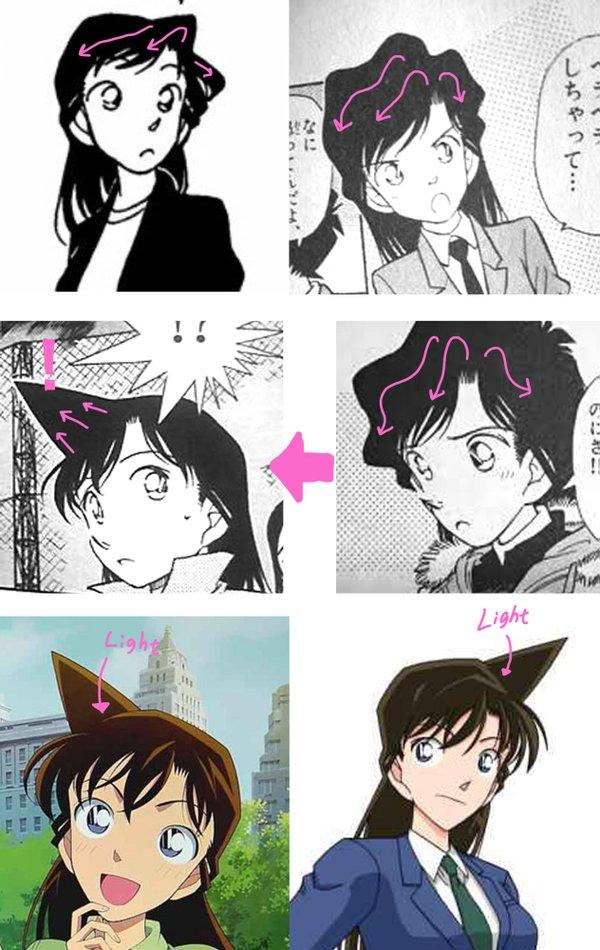 名探偵コナン 蘭姉ちゃん 蘭 角 髪型 絵師 理由 解説 謎に関連した画像-03