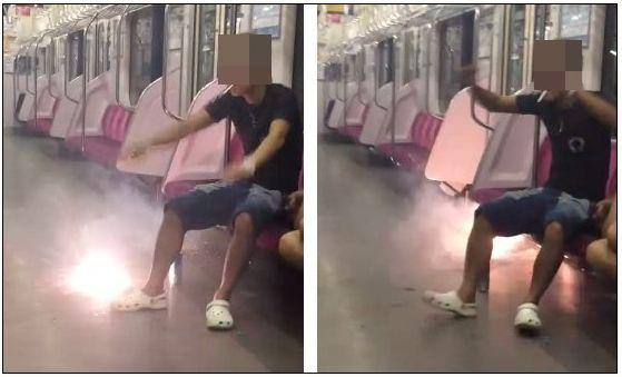 女子中学生 電車 花火に関連した画像-04