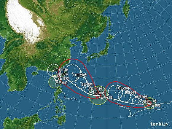 台風 天気予報に関連した画像-05
