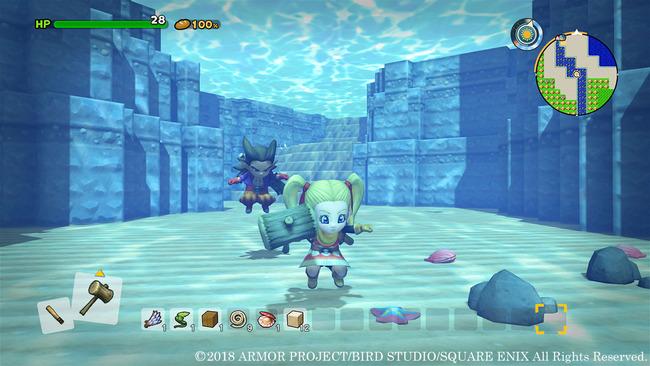 ドラゴンクエストビルダーズ2 一人称視点 水中に関連した画像-05