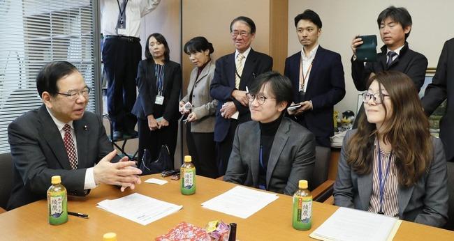 【徴用工問題】共産・志位代表が元徴用工側と国会内で面談、一緒になって日本から賠償金を巻き上げる気まんまんの模様