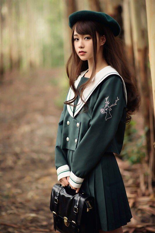 JK系 中国 ファッションに関連した画像-02