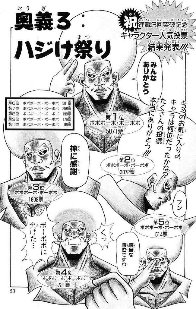 ボボボーボ・ボーボボ ボーボボ キャラクター 人気投票 結果発表 に関連した画像-03