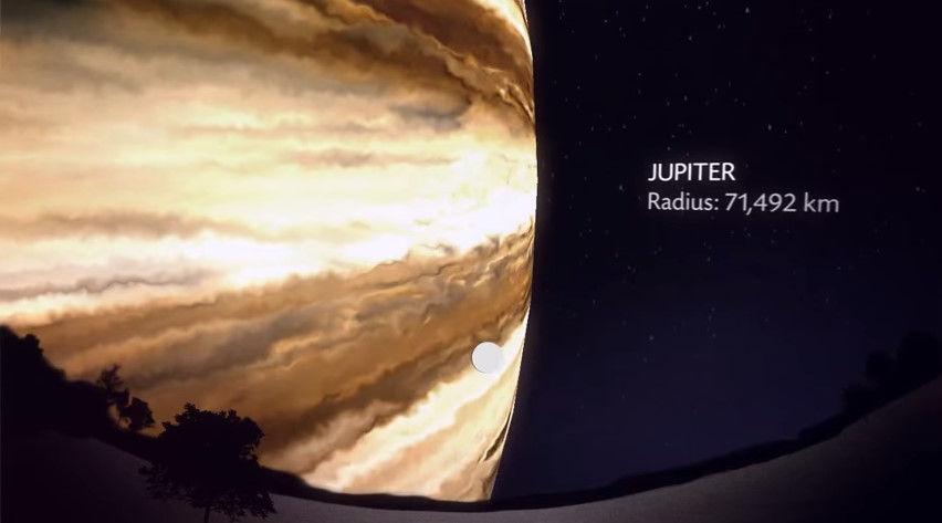もしも月と同じ距離に他の惑星があった場合のシミュレーションが怖すぎ!木星と土星デカすぎワロタwwwwwww