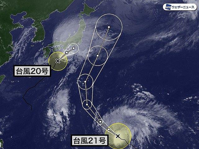 台風 台風21号 台風20号 台風19号 日本 天気予報に関連した画像-03