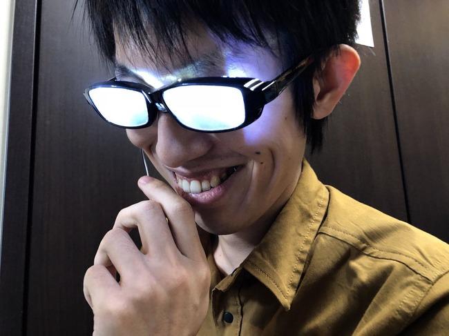 メガネ 光る メガネキャラ LED 自作に関連した画像-07