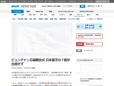 平昌五輪 開会式 日本人選手に関連した画像-02