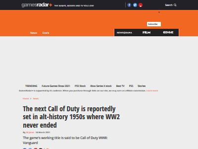 コールオブデューティ CoD 新作 舞台 第二次世界大戦 ヴァンガードに関連した画像-02