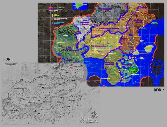 レッド・デッド・リデンプション2 ロックスター RDR レッドデッドリデンプション レッド・デッド・リデンプション マップに関連した画像-03