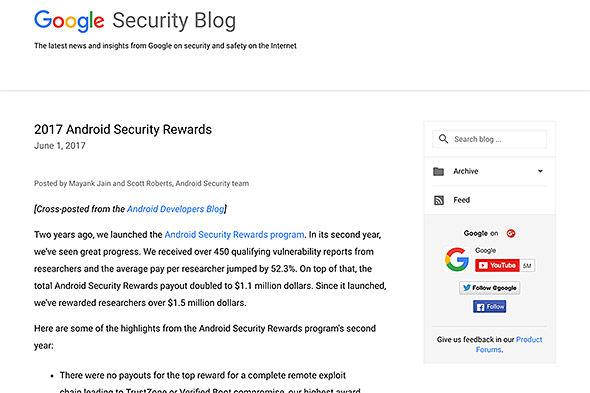 Android アンドロイド 脆弱性 賞金 Google セキュリティに関連した画像-03