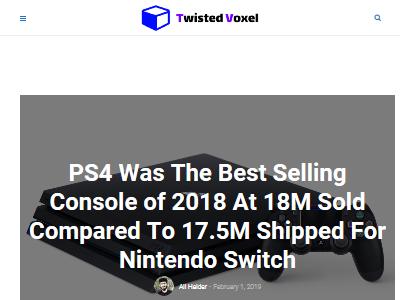 2018年 ゲーム機 PS4 ニンテンドースイッチに関連した画像-02