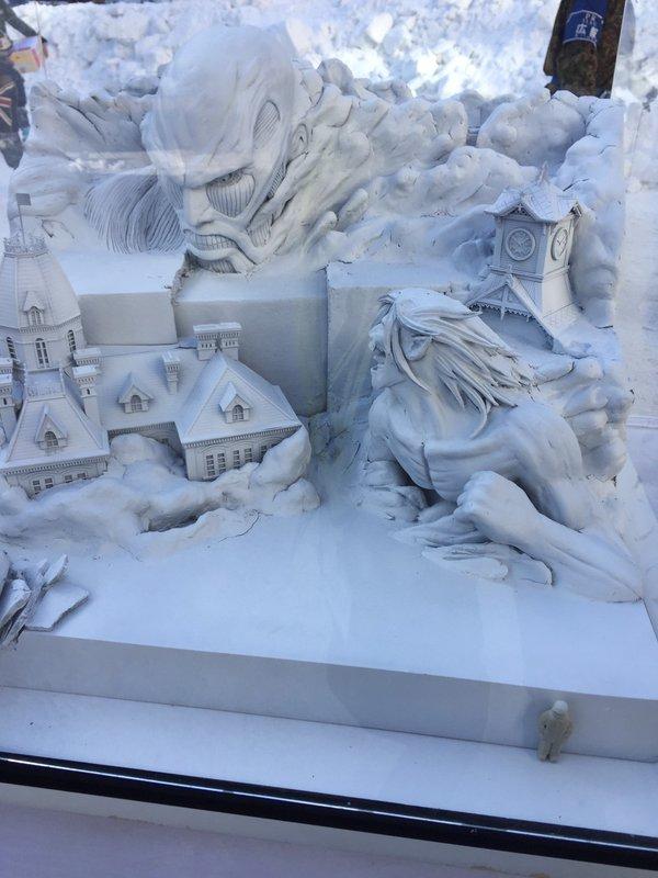 進撃の巨人 さっぽろ雪まつり 巨大雪像 ラブライブ! 札幌雪まつりに関連した画像-02