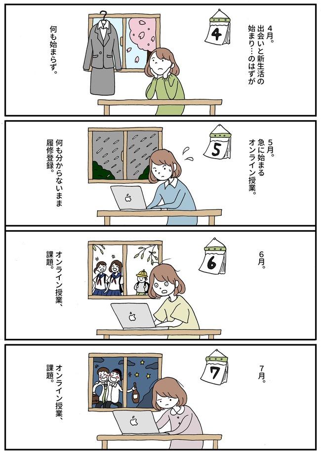 大学生 オンライン授業 新型コロナに関連した画像-03