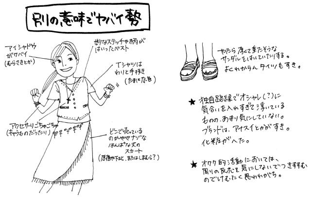 オタク女子 オタク ファッション 図解 一般人 擬態に関連した画像-07