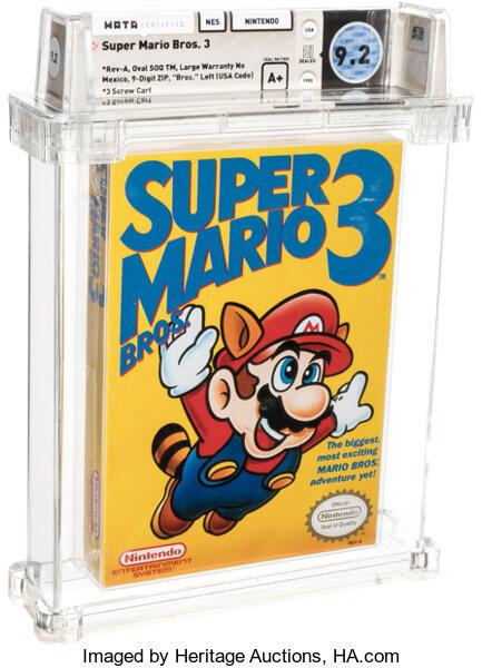 未開封 スーパーマリオブラザーズ3 ゲーム史上 最高額 落札 1620万円に関連した画像-03